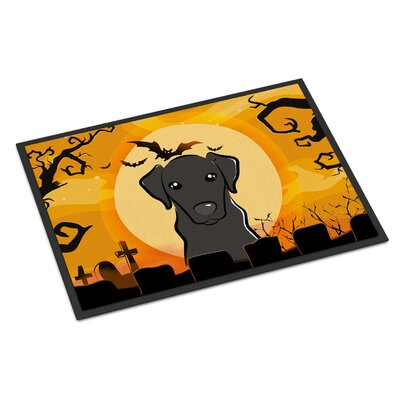 Halloween Labrador Doormat Mat Size: 2 x 3, Color: Black