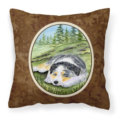 Australian Shepherd Modern Indoor/Outdoor Throw Pillow