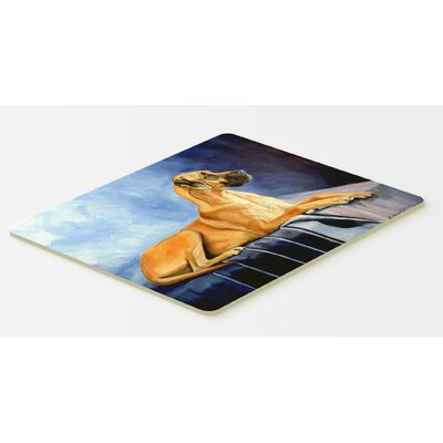 Natural Fawn Great Dane Kitchen/Bath Mat Size: 24