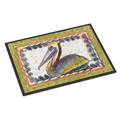 Pelican Bird Doormat Rug Size: 2 x 3