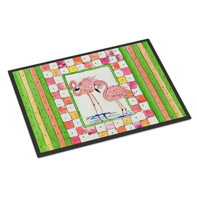 Bird Flamingo Doormat Rug Size: 2 x 3