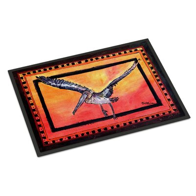 Bird Pelican Doormat Rug Size: Rectangle 16 x 2 3