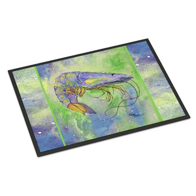 Shrimp Doormat Rug Size: Rectangle 16 x 2 3