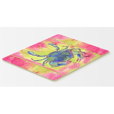 Bright Pink and Blue Crab Kitchen/Bath Mat Size: 20 H x 30 W x 0.25 D