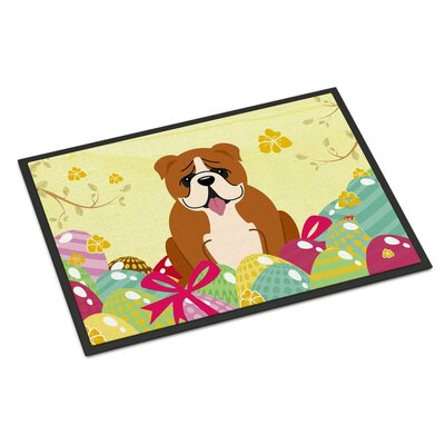 Easter Eggs English Bulldog Indoor/Outdoor Doormat