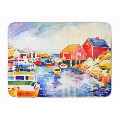 Burnham Boats at Harbour with a View Memory Foam Bath Rug
