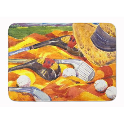 Golf Clubs Golfer Memory Foam Bath Rug