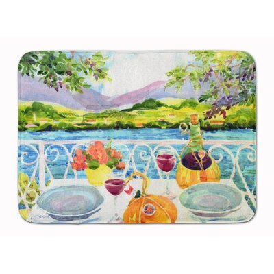 Afternoon of Grape Delights Wine Memory Foam Bath Rug