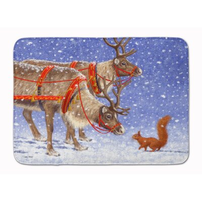 Reindeer and Squirrel Memory Foam Bath Rug