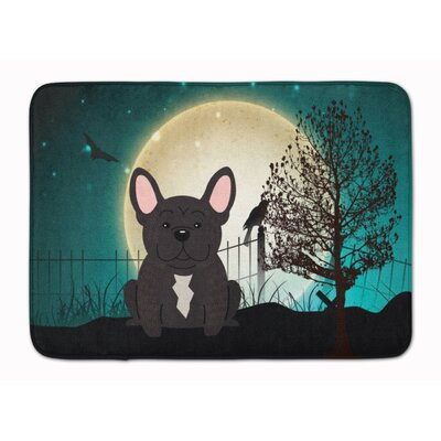 Halloween Scary French Bulldog Brindle Memory Foam Bath Rug