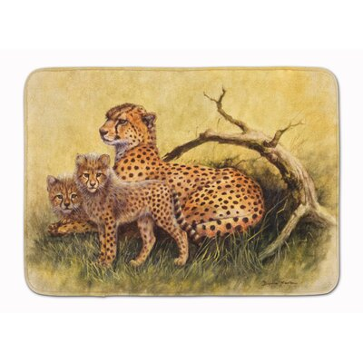 Cheetahs by Daphne Baxter Memory Foam Bath Rug