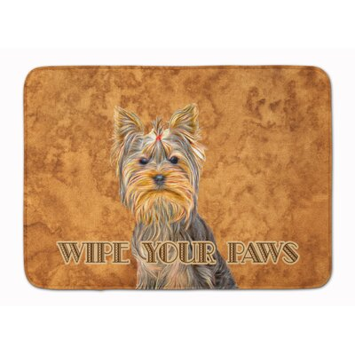 Yorkie Yorkshire Terrier Wipe your Paws Memory Foam Bath Rug