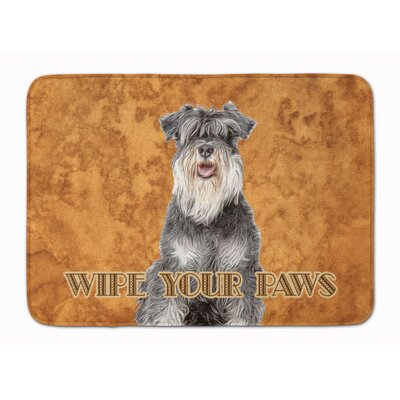 Schnauzer Wipe your Paws Memory Foam Bath Rug