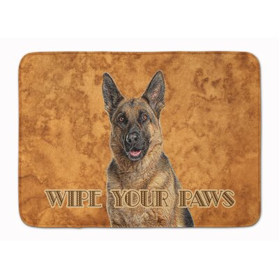 German Shepherd Wipe your Paws Memory Foam Bath Rug