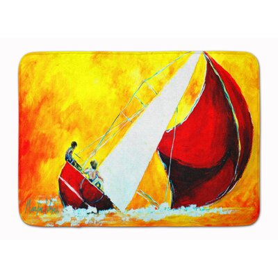 Sailboat Break Away Memory Foam Bath Rug
