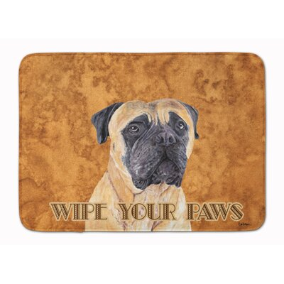 Rendville Mastiff Wipe your Paws Memory Foam Bath Rug