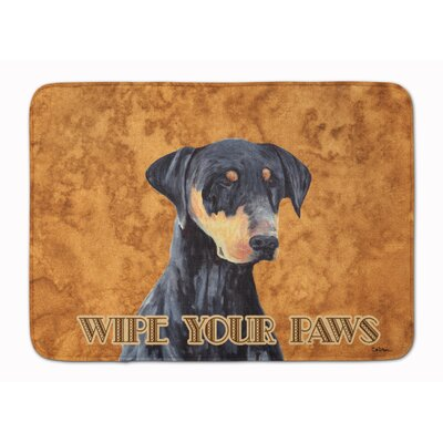 Doberman Wipe your Paws Memory Foam Bath Rug