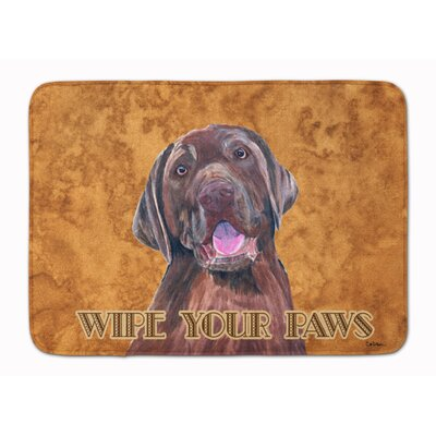 Kildare Labrador Wipe your Paws Memory Foam Bath Rug