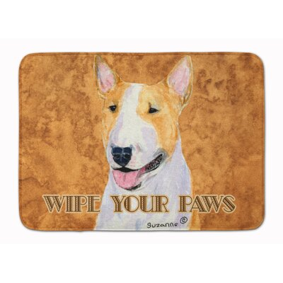 Bull Terrier Wipe your Paws Memory Foam Bath Rug