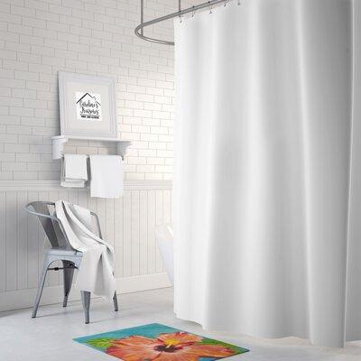 Hibiscus by Malenda Trick Memory Foam Bath Rug