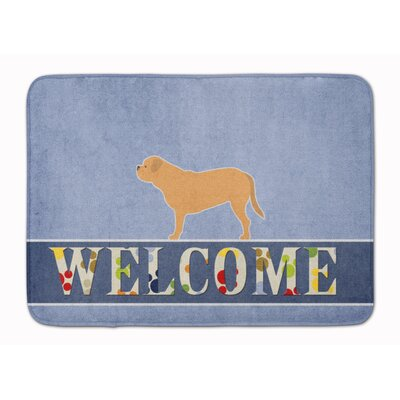 Dogue de Bordeaux Welcome Memory Foam Bath Rug