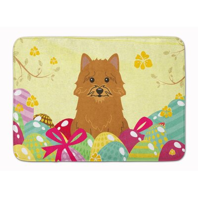 Easter Eggs Norwich Terrier Memory Foam Bath Rug