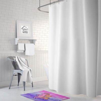 Zelma Unicorn Watercolor Memory Foam Bath Rug