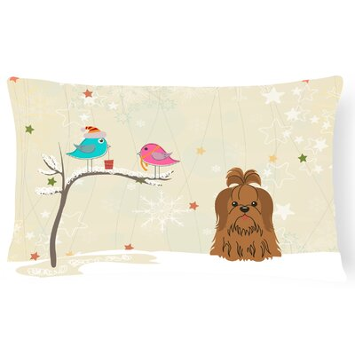 Christmas Presents between Friends Shih Tzu Decorative Pillow