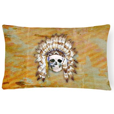 Day of the Dead Indian Skull Lumbar Pillow