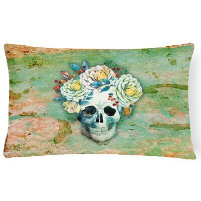 Day of the Dead Skull Lumbar Pillow