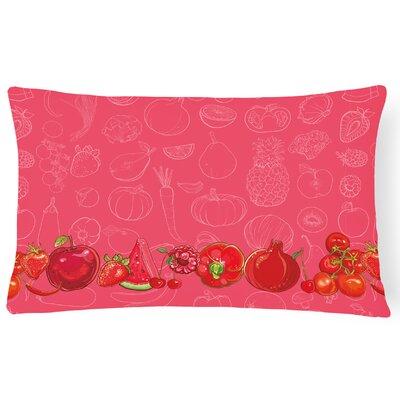 Fruits and Vegetables Lumbar Pillow