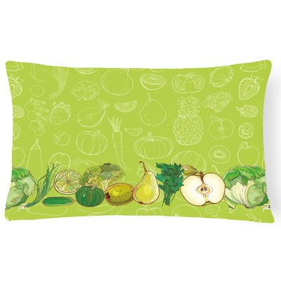 Fruits and Vegetables Lumbar Pillow