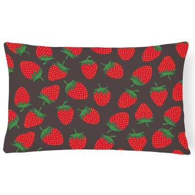 Jonesville Strawberries on Lumbar Pillow