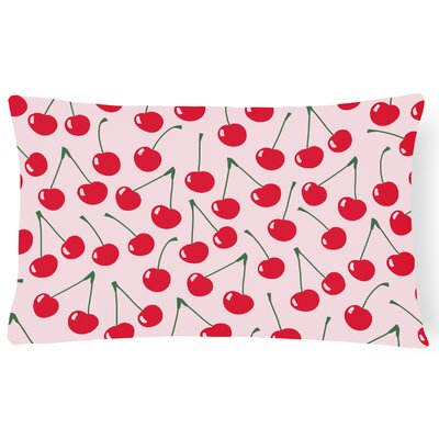 Kilmarnock Cherries Lumbar Pillow Pillow Cover Color: Pink