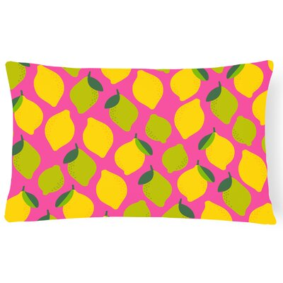 Newsoms Lemons and Limes Lumbar Pillow Pillow Cover Color: Pink