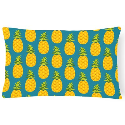 Amaryllis Pineapple Lumbar Pillow Pillow Cover Color: Teal