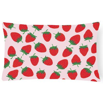 Keysville Strawberries Lumbar Pillow