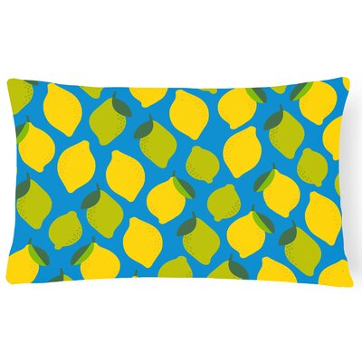 Newsoms Lemons and Limes Lumbar Pillow Pillow Cover Color: Blue