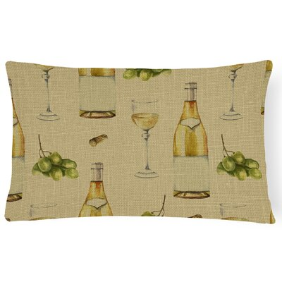 Blackwater Wine on Linen Lumbar Pillow Pillow Cover Color: Beige