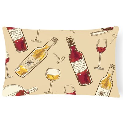 Onley Wine Lumbar Pillow Pillow Cover Color: Cream