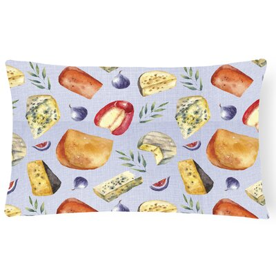 Courter Assortment of Cheeses Lumbar Pillow