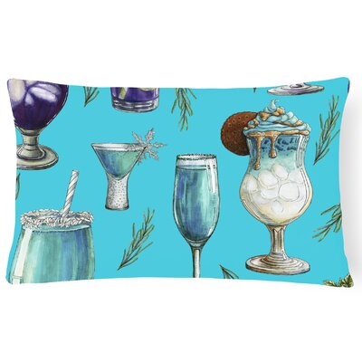 Surry Drinks and Cocktails Lumbar Pillow Pillow Cover Color: Blue
