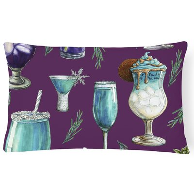 Surry Drinks and Cocktails Lumbar Pillow Pillow Cover Color: Purple