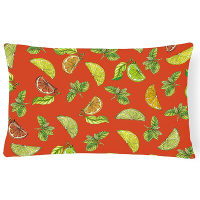 Clairevale Lemons, Limes and Lumbar Pillow Pillow Cover Color: Orange