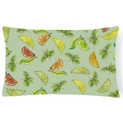 Clairevale Lemons, Limes and Lumbar Pillow Pillow Cover Color: Green