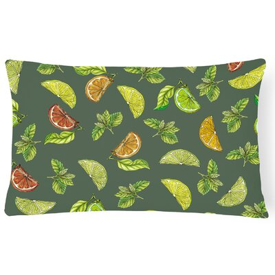 Clairevale Lemons, Limes and Lumbar Pillow Pillow Cover Color: Dark Green