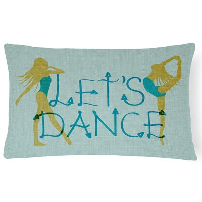 Alexandro Lets Dance Linen Lumbar Pillow