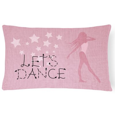 Alexzander Lets Dance Linen Lumbar Pillow