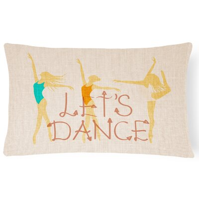 Alisha Lets Dance Linen Light Lumbar Pillow