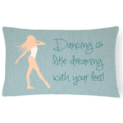 Allyssa Dancing is Like Dreaming Lumbar Pillow Pillow Cover Color: Cream